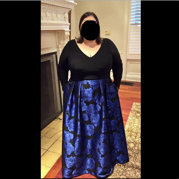Xscape Plus Size brocade gown size 22W